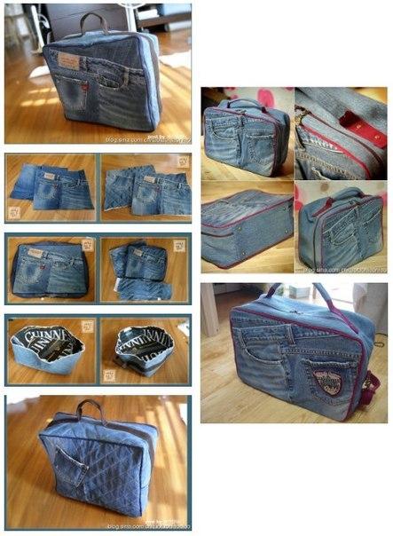 Как делать сумку из джинсов своими руками 32