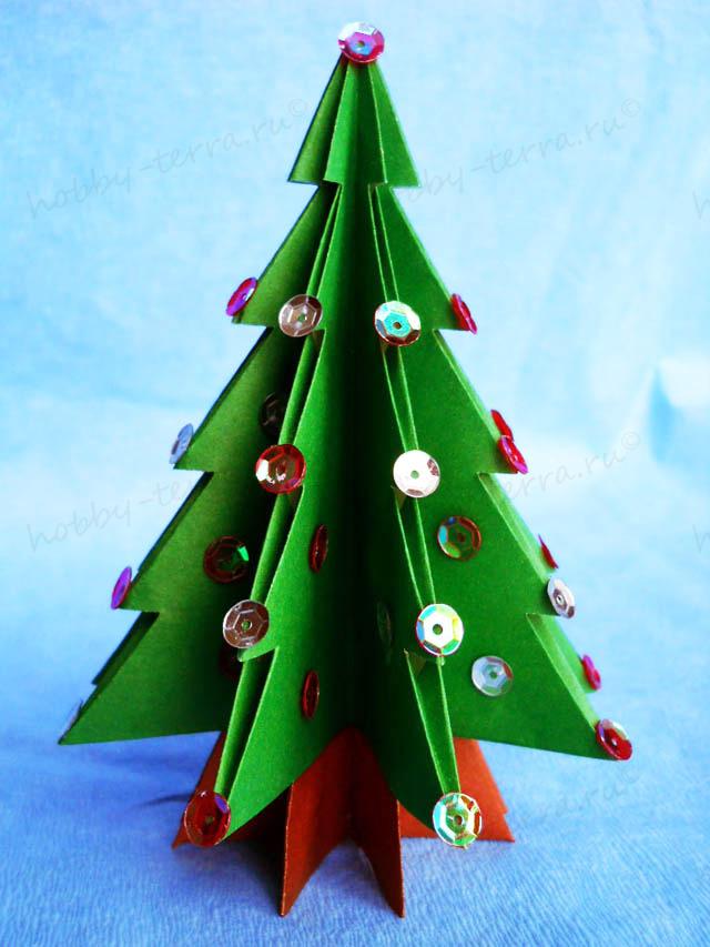 Новогодние елки своими руками из бумаги с инструкцией