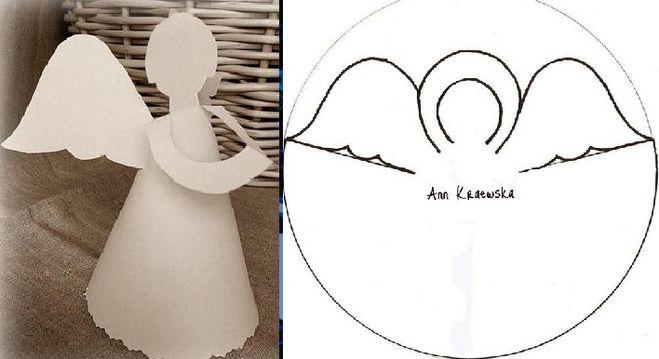 Как вырезать ангелочков из бумаги своими руками